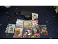 Playstation 3 Slim 250GB Bundle PS3 (9 Games, Official Controller)