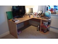 Corner desk. Hardly used