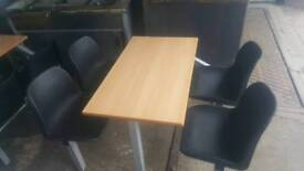 Commercial 4seater table and chairs ideal for fast foods or cafe