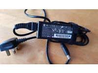 Original HP 65W watt laptop charger / adapter with power cable