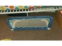 blue bed gaurd