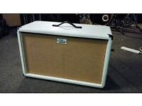 Zilla Fatboy Guitar Cab 2x12 White with Celestion V30s, 8 ohms
