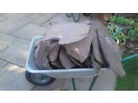 Assorted sizes of garden slate ideal for use in ornamental / water feature
