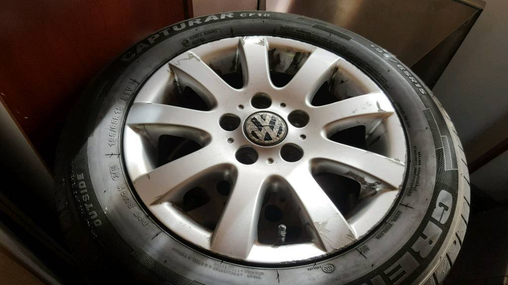 Mk5 golf alloy wheels with good tyres