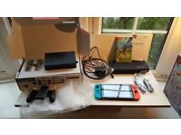 Nintendo Switch 32GB Console - Neon - with Zelda + case + screen protector