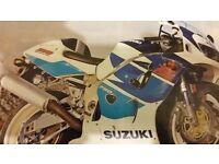 suzuki gsxr750srad injection 1997 full bike breaking for spares