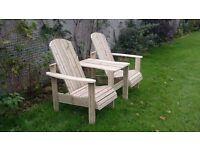 Jack and Jill seat Love Seat Twin seat Garden chair Summer seat furniture set LoughviewJoineryLTD