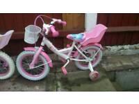 Pink and white bike