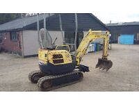 Yanmar V10 15 1.5 tonne mini digger. Expanding tracks. Really good machine.