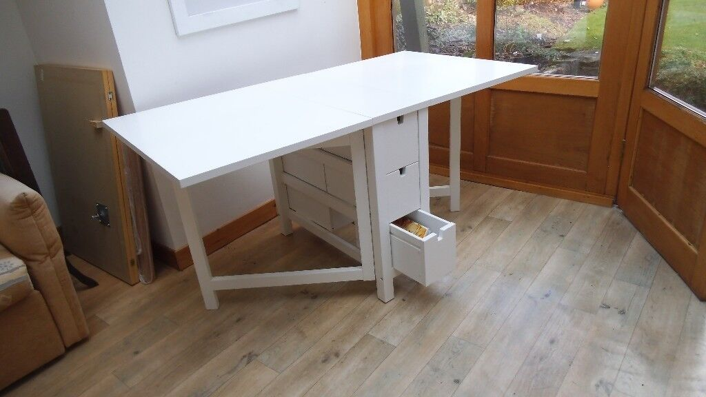 White Ikea Norden Gateleg Table Costs 175 Ing For 60 Er Uplifts