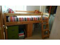 Single Pine/mid/ Cabin Bed