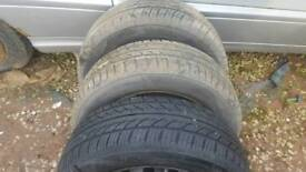 3 x 185/60/R14 TYRE'S with 7mm Tread