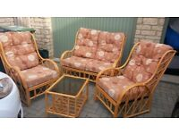 Cane Furniture Chairs and Table