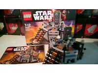 LEGO STAR WARS 75137 CARBON FREEZING CHAMBER INCLUDING BOBA FETT HAN SOLO URGANAUT FROZEN HAN