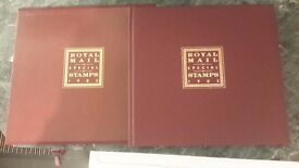 Royal mail special stamps 1985 + 2 paper weights + Charles/Diana Australian stamps