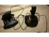 Thrustmaster T.16000M FCS Hotas Joystick Mac,PC Black,Orange.BOX