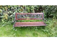 Beautiful cast iron wood bench
