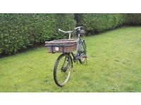 Old post bike wood made good advertisement vehicle or garden ornament getting extremely rare now