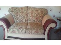 Two identical 2 seater sofas