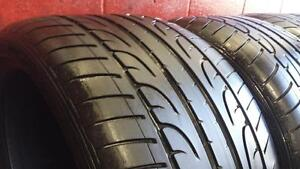 Stag'd SET of 4 RUNFLAT ~~~ 285/35R21 & 325/30R21 Dunlop SP SportMAXX ~~~ SUMMER ~~~ 50-60%tread