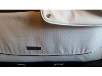2 in1 white leather diamonte pram babystyle prestige collection