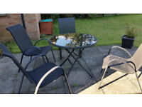 Outside table and 4 chairs