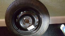 "Vauxhall Corsa 13"" SPARE WHEEL 155/80/R13 PIRELLI TYRE"