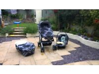 Mamas and Papas Travel system - car seat with isofix base/ buggy / travel cot/ stand/ covers