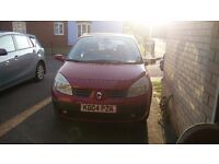 FULL MOT! Renault Scenic Expression 1.6 VVt Petrol Red Low Mileage Family Car