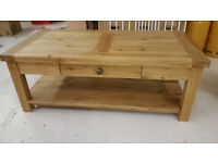 New Oak coffee table, Pine TV Table, Pine Otterman, Pine Cabinet