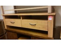 2 drawer coffee table - oak