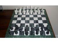 "Marble chess set 16"" x 16"""