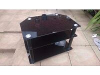 TV table & Coffee Table - Black Glass Set - Bargain - First To See Will Buy !!