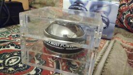 Powerball Pro Metal 350Hz, original perspex magnetic box, spare rotor set