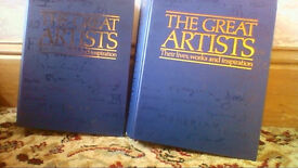 Almost complete set of The Great Artists magazines in binders