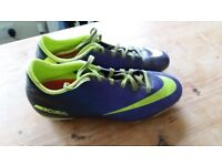FOOTBALL BOOTS; SIZES 5, 5.5 & 6