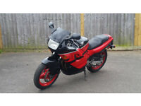 Classic 1989 Honda CBR 600f in red with MOT