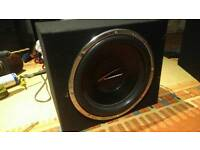 Audiobahn Subwoofer in Custom Made Box With Kenwood Amp