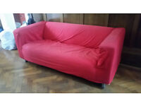 Ikea red sofa - free