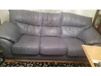 3 seater leather sofa and one seater sofa
