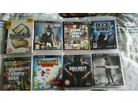 Ps3 slim 120gb with many games & guitar hero with guitars PS3