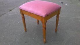 Lovely upholstered pine dressing table stool