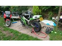 Zx7r Road track bike v5 mot swap motocross rs125