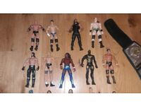 Wwe figures and wrestling belts