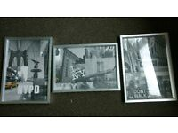Set of 3 Frammed New York Pictures - A4
