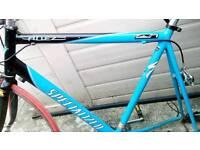 Specialised road bike frame, wheel & multiple accessories