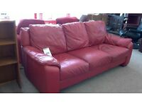 Leather 3 seater plus 2 seater suite