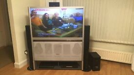 toshiba rear projection tv with pioneer surround sound