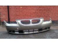 BMW E60 E61 PRE LCI SE COMPLETE 5 SERIES FRONT BUMPER (Gold Metallic) inc Grills