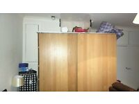 VERY LARGE IKEA WARDROBE WITH SLIDING DOORS REDUCED FOR QUICK SALE £150